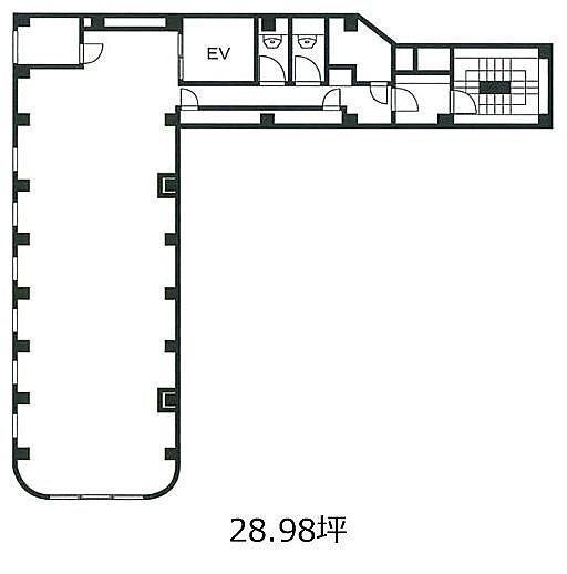 Brown Place 8階(店舗可)の間取り画像