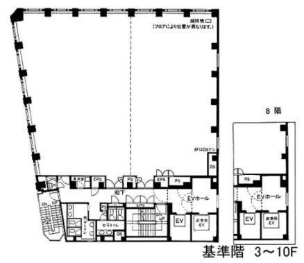 アクロス新川ビル・アネックス 5階の間取り画像