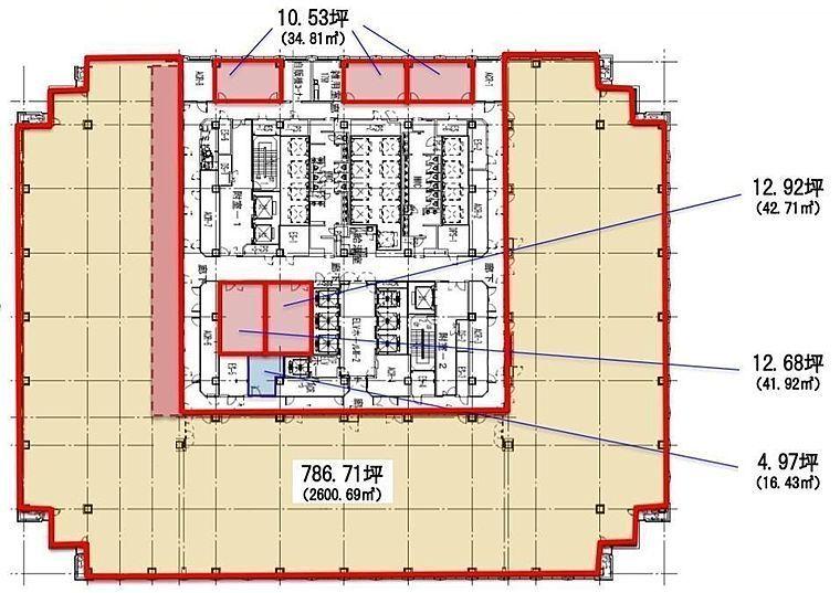 品川グランドセントラルタワー 5階の間取り画像