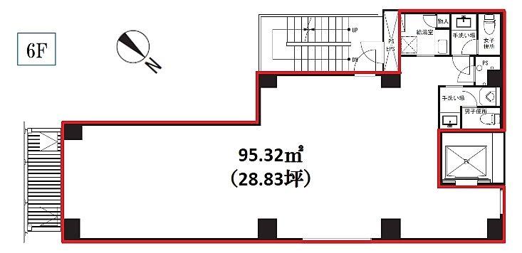 AKASAKA vetoro 6階の間取り画像