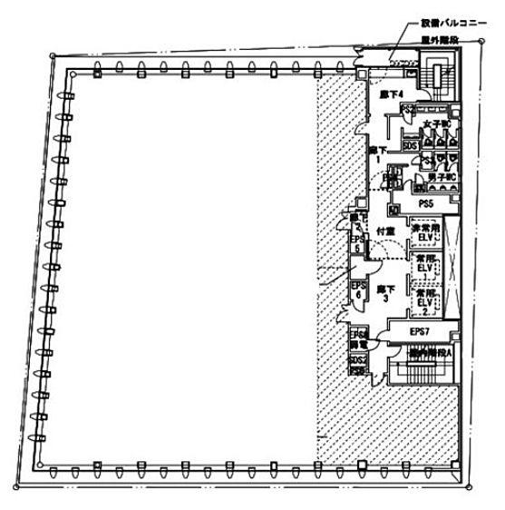 日比谷ビルディング 7階の間取り画像