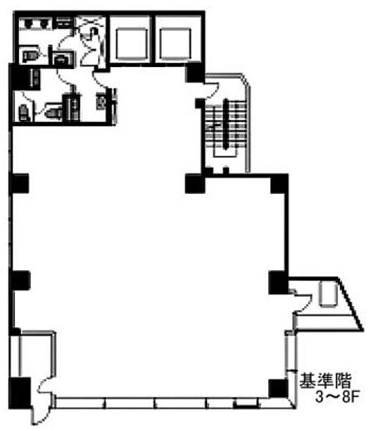 ヒューリック渋谷宮下公園ビル 3階の間取り画像