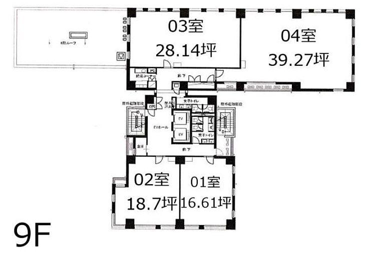 Aios銀座 9階903 平面図