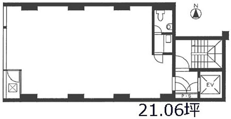 ヴェルコ黒門 2階の間取り画像