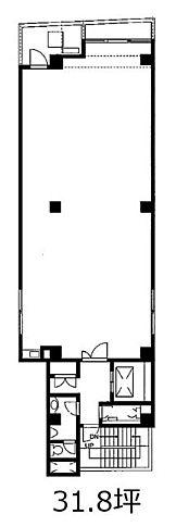 神田松楠(ショウナン)ビル 6階Aの間取り画像