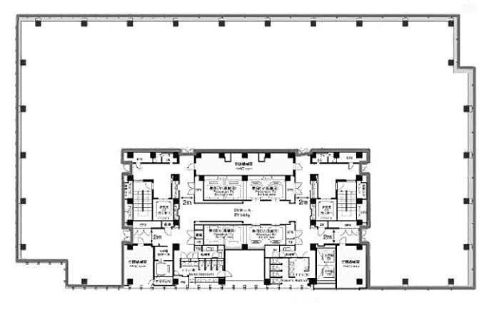 六本木ティーキューブ 17階1701 平面図