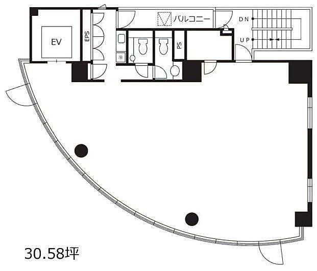 渋谷デュープレックスB's 3階の間取り画像