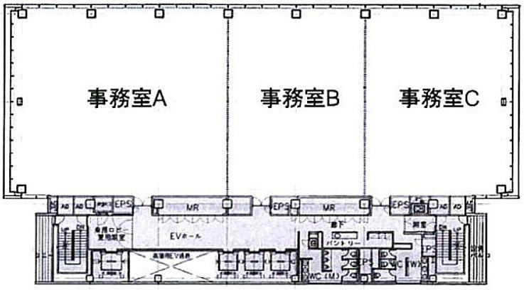 大崎ウィズタワー 9階Aの間取り画像