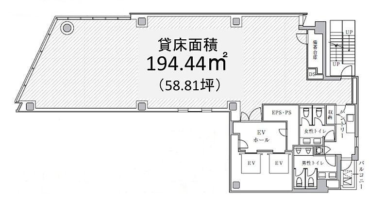 PMO神田岩本町Ⅱ 3階の間取り画像