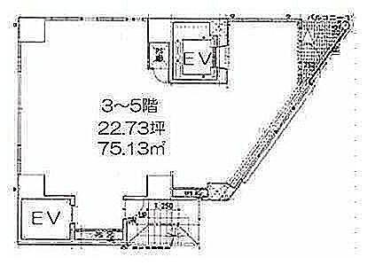 LASPACIO浅草レジデンス 5階(店舗限定)の間取り画像