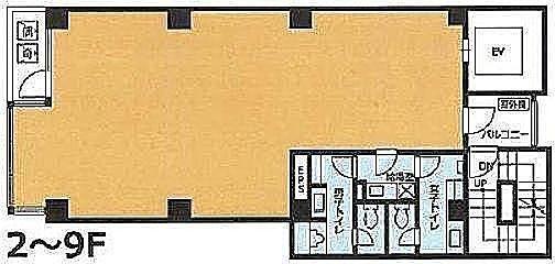 VORT新橋Ⅱ 5階の間取り画像