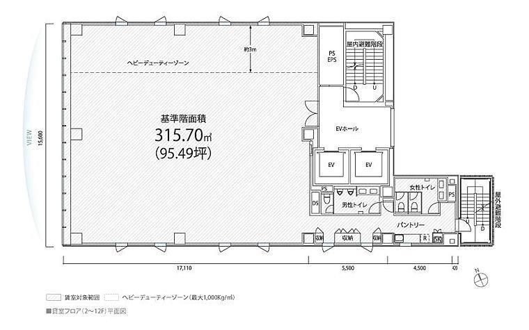 PMO日本橋茅場町 3階の間取り画像