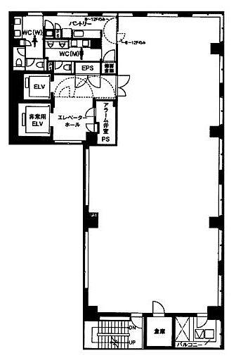 ハビウル西新橋 9階の間取り画像