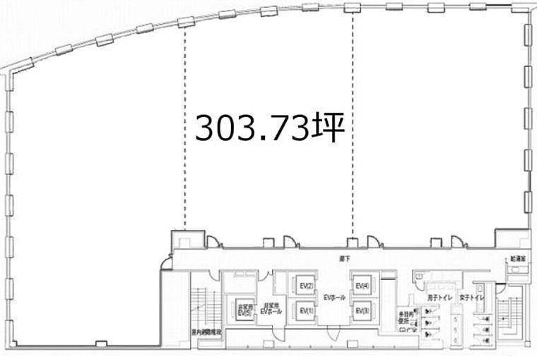 KDX浜松町プレイス 10階の間取り画像
