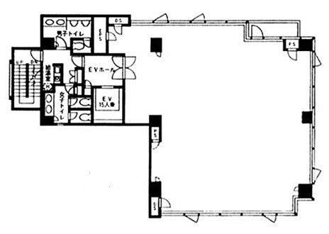 VORT芝大門 8階801の間取り画像