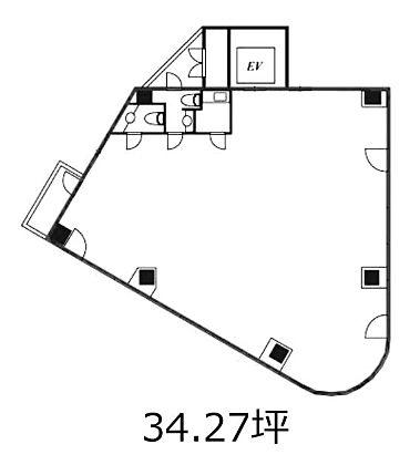 第Ⅲ大栄ビル 8階の間取り画像