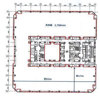 晴海アイランドトリトンスクエアオフィスタワーY棟 24階の間取り画像