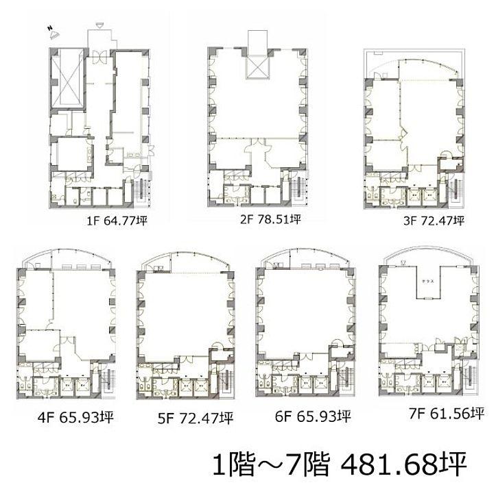 NOCビル 1階~7階(一棟貸)の間取り画像
