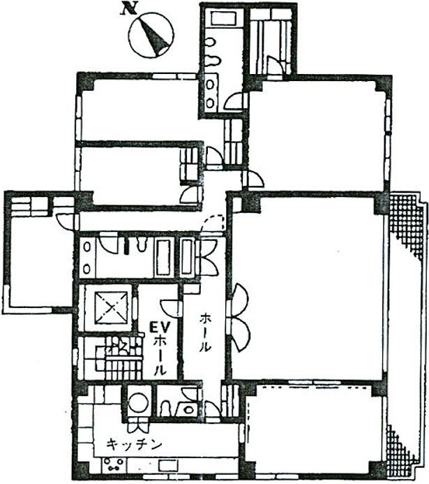 トミーリージェンシー 3階301の間取り画像
