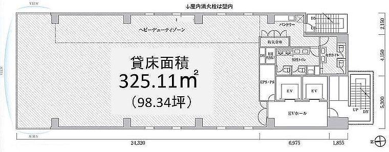 PMO浜松町Ⅱ(旧:PMO浜松町大門前) 4階の間取り画像