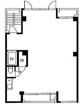 華ビル 2階201(店舗可)の間取り画像