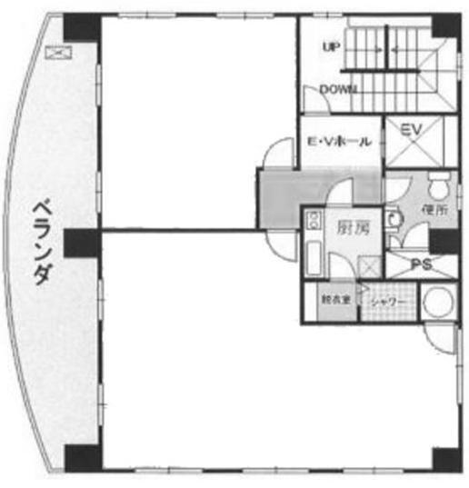 ヒマワリビル 5階(SOHO・店舗可)の間取り画像