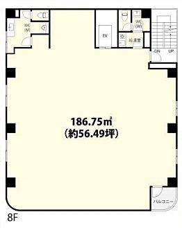 フォーラム浅草田原町 8階(店舗可)の間取り画像