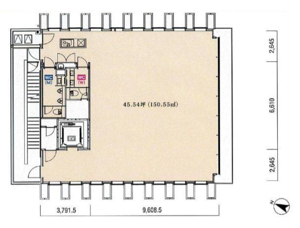 KKDビル 6階の間取り画像