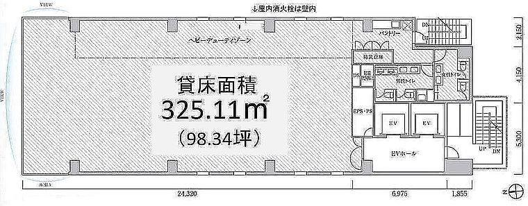 PMO浜松町Ⅱ(旧:PMO浜松町大門前) 6階の間取り画像