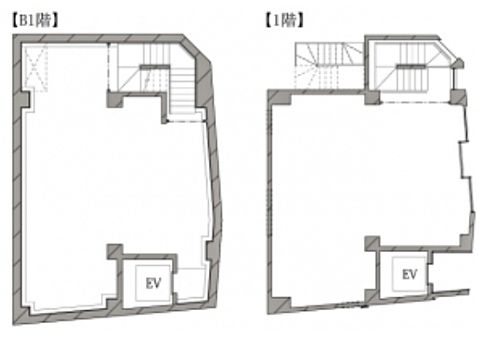 HIBICA神宮前 地下1階~1階(店舗限定)の間取り画像
