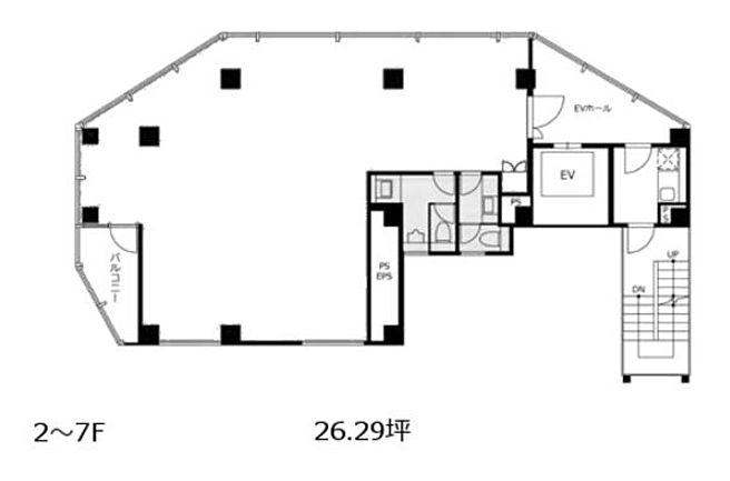 VORT新橋NEX 7階 平面図