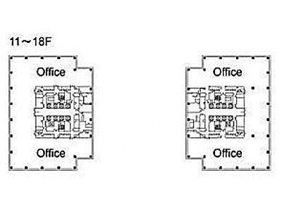 テレコムセンタービル 西棟7階間取りのサムネイル画像