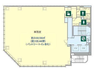 BIZCORE渋谷 5階間取りのサムネイル画像