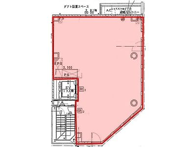 The SH one 7階(店舗可)間取りのサムネイル画像