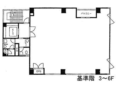 赤坂伊藤ビル 6階間取りのサムネイル画像