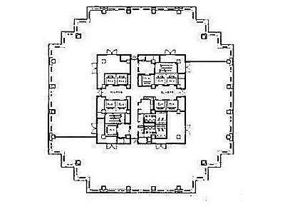 青海フロンティアビル 11階間取りのサムネイル画像