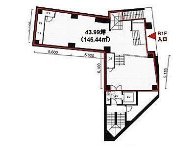MK麹町ビル 地下1階(店舗限定)間取りのサムネイル画像