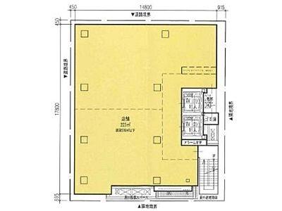 阪神阪急銀座ビル(旧:阪急阪神銀座3丁目プロジェクト) 11階(店舗限定)間取りのサムネイル画像