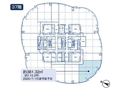 六本木ヒルズ森タワー 37階間取りのサムネイル画像