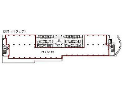 渋谷マークシティ 15階間取りのサムネイル画像