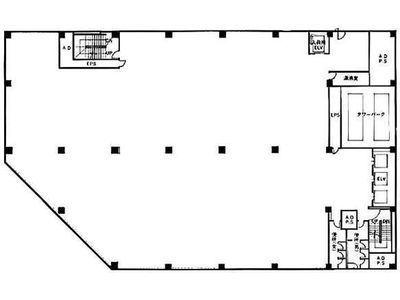 築地KYビル 2階C室増床プラン(店舗限定)間取りのサムネイル画像