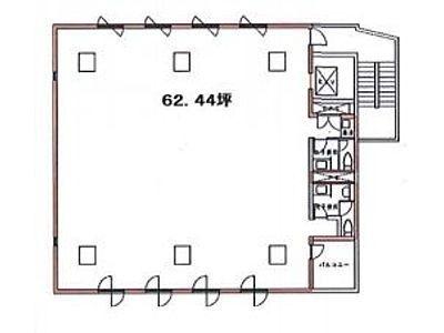 アイアンクオータビル 2階間取りのサムネイル画像