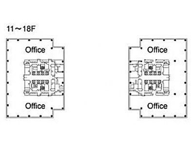 テレコムセンタービル 東棟15階間取りのサムネイル画像