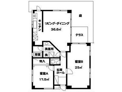 ガーデニア六本木 2階201(SOHO)間取りのサムネイル画像