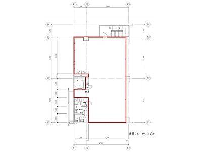 赤坂フェニックスビル 4階間取りのサムネイル画像