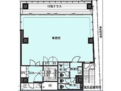 (仮称)南青山5丁目ビル新築計画(南青山5丁目プロジェクト) 2階(店舗可)間取りのサムネイル画像