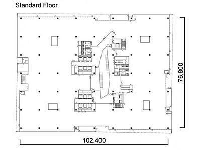 メブクス豊洲(旧:(仮称)豊洲六丁目4-2、3街区プロジェクト オフィス棟(4-2街区)) 3階間取りのサムネイル画像