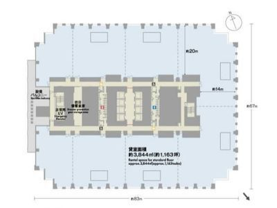 神谷町トラストタワー 25階間取りのサムネイル画像