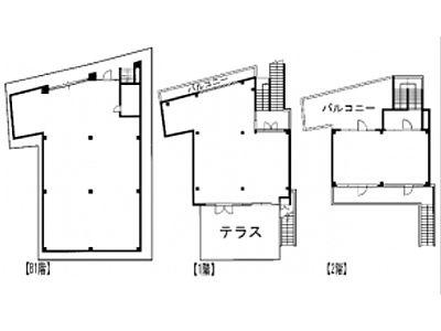 神宮前COURT C 地下1階~2階(一棟貸・店舗限定)間取りのサムネイル画像