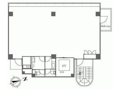 HIS麻布台ビル(旧:(仮称)麻布台ビル計画) 7階間取りのサムネイル画像